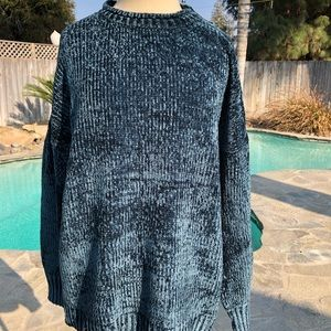 Sweaters - Teal Green Chenille Sweater